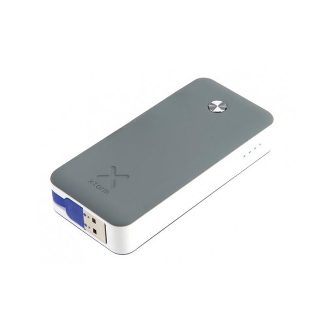 Външна батерия/power bank A-solar Xtorm Air XB100 в пакет с Gecko лампа за четене, 6000 mAh, 2x USB A(ж) порта, сива image