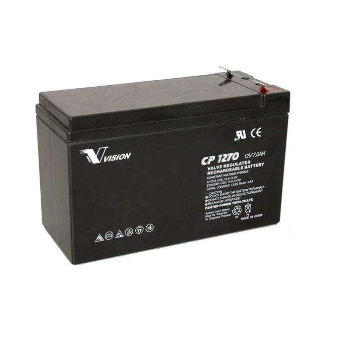 Акумулаторна батерия Vision CP1270, 12V, 7 Ah, AGM image