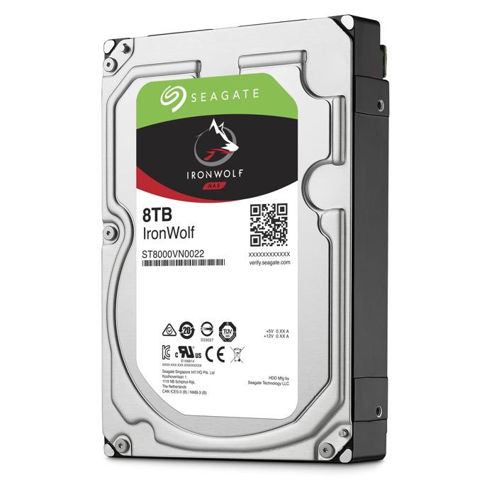 """Твърд диск 8TB Seagate Ironwolf ST8000VN0022, SATA 6Gb/s, 7200 rpm, 256MB, 3.5""""(8.89 cm) image"""