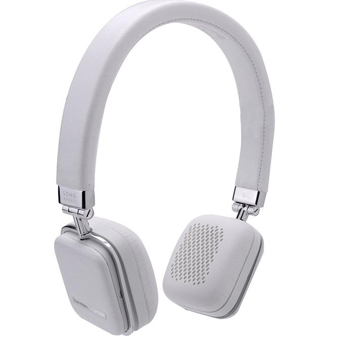 Слушалки Harman Kardon Soho, безжични, микрофон, 1.2м. кабел, бели image