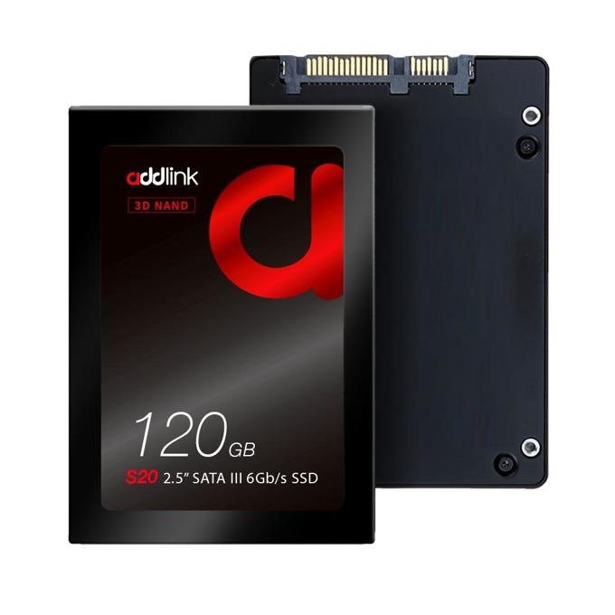 """Памет SSD 120GB Addlink S20, SATA 6 Gb/s, 2.5"""" (6.35cm), скорост на четене 510 MB/s, скорост на запис 400 MB/s image"""