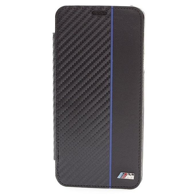 Калъф за Samsung Galaxy S9 Plus, термополиуретан, BMW M Collection Booktype Case, черен image