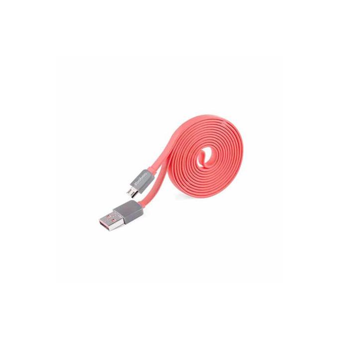 Кабел Yoobao от USB 2.0 A (м) към USB micro B(м), 0.8m, розов image