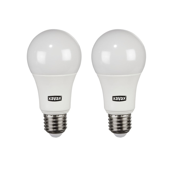 LED крушка Xavax 112282, E27, A60, 9.5W (60W), 806 lm, 2700К, топло бялa, 2 броя!!!. image