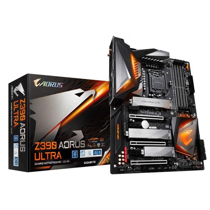 Дънна платка Gigabyte Z390 AORUS ULTRA, Z390, LGA1151, DDR4, PCI-Е (HDMI)(CF&SLI), 6x SATA 6Gb/s, 3x M.2, 1x USB 3.1 Type-C, Wi-Fi, Bluetooth, RGB, ATX image