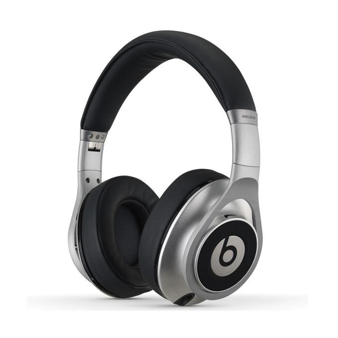 Слушалки Beats by Dre Executive Over Ear, сребристи, професионални, микрофон, сгъваеми, оптимизирани за iPhone/iPod/iPad image