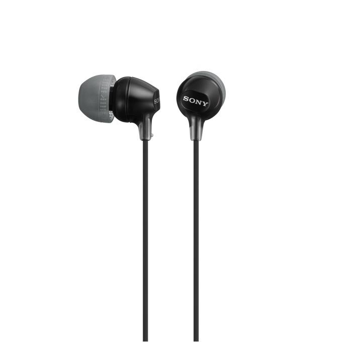 "Слушалки Sony MDR-EX15LP, микрофон, тип ""тапи"", черни image"