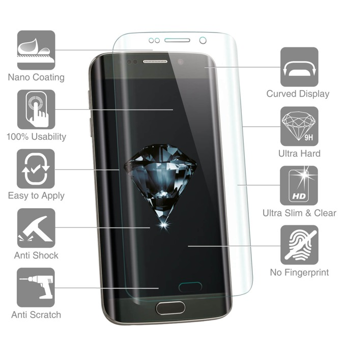 Протектор от закалено стъкло /Tempered Glass/ 4Smarts за Samsung Galaxy S7, прозрачен-златист image