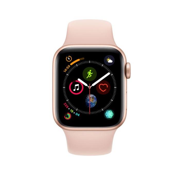 Смарт часовник Apple Watch S4 40mm, OLED дисплей, водоустойчив, силиконова каишка, розов image