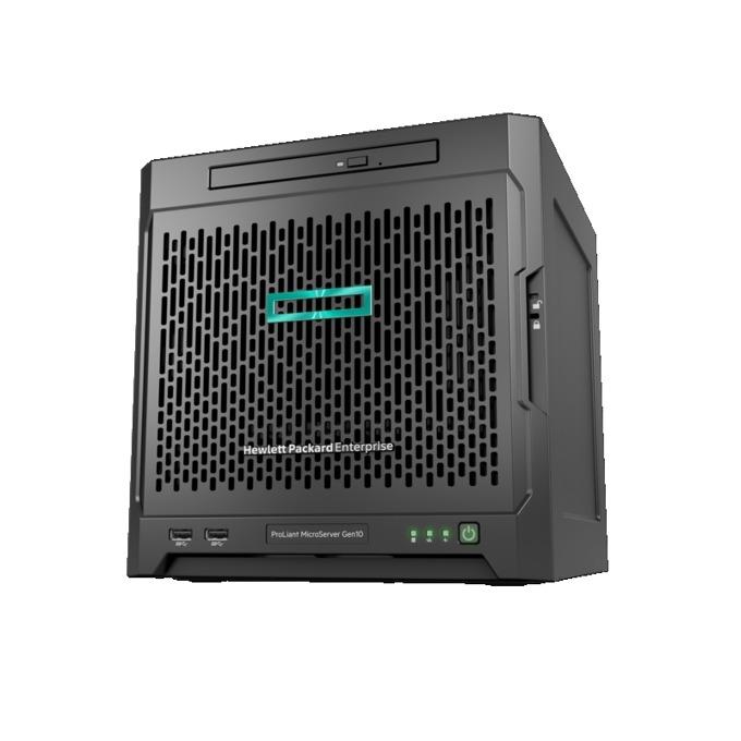 Сървър HPE ProLiant MicroServer G10 (P04923-421), четириядрен AMD Opteron™ X3421 3.4GHz, 8GB DDR4 UDIMM, 2x RJ-45, 2x Display ports, 4x USB 3.0, 200W захранване image