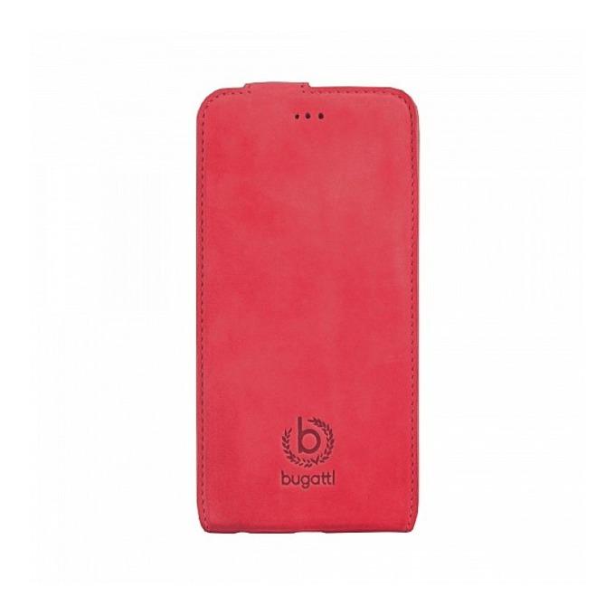 Калъф за Apple iPhone 6, отваряем, естествена кожа, Bugatti FlipCover Madrid, червен image