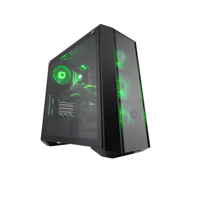 Кутия Cooler Master MasterBox Pro 5 RGB, E/ATX/mATX/miniITX, 2x USB 3.0, страничен прозорец от закалено стъкло, подсветка, черна, без захранване image