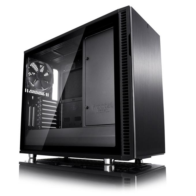Кутия Fractal Design Define R6 Blackout TG, eATX/ATX/mATX/ITX, прозорец, черна, без захранване image