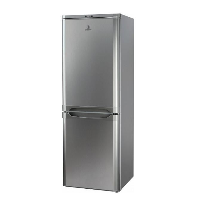 Хладилник с фризер Indesit NCAA55NX, клас А+, 217 л. общ обем, свободностоящ, 233 kWh/годишно, статична система за охлаждане, стъклени полици, инокс  image