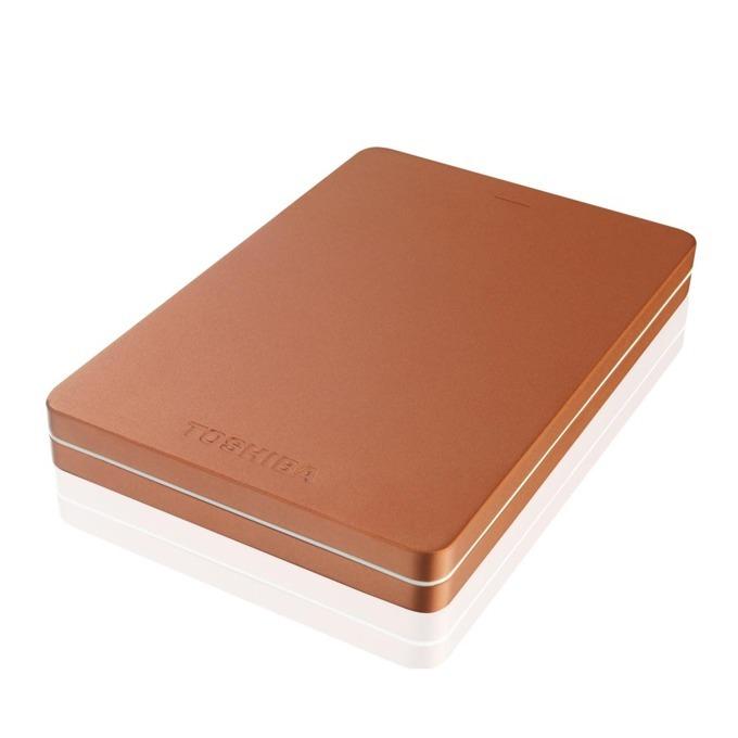 """Твърд диск 500GB Toshiba Canvio Alu 3S (червен), външен, 2.5"""" (6.35 cm), USB 3.0 image"""