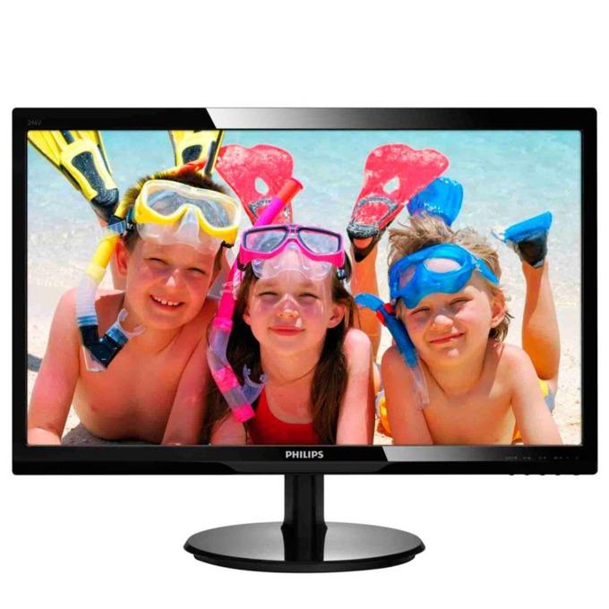 """Монитор 24"""" (60.96 cm) Philips 246V5LHAB, TFT-LCD панел, Full HD, 5 ms, 10 000 000:1, 250cd/m2, HDMI image"""