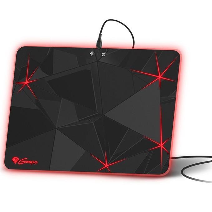 Подложка за мишка Natec Genesis Lighting Boron 700, гейминг, черна, 348 x 250x 5мм, светеща  image