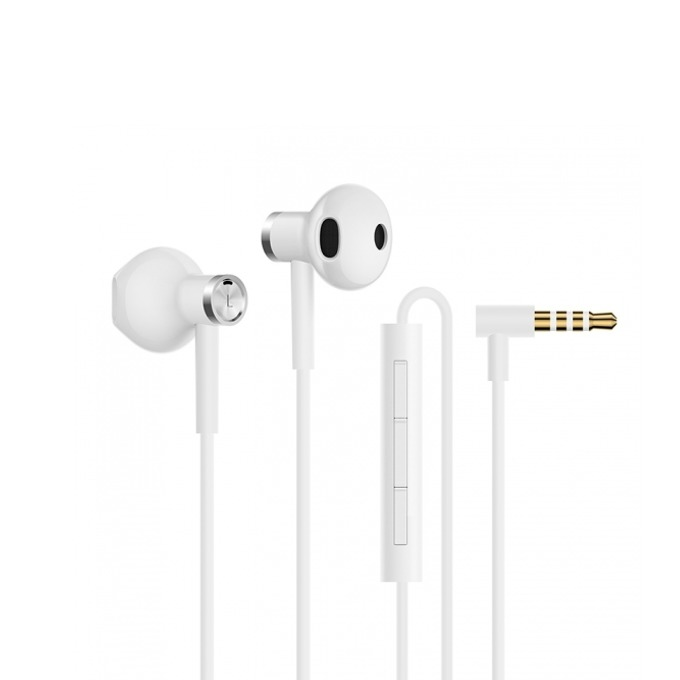 Слушалки Xiaomi Mi Dual Driver Earphones, микрофон, бели image