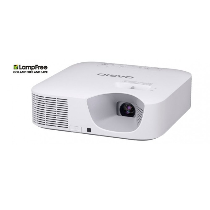Проектор Casio XJ-F211WN, DLP, WXGA (1280 x 800), 20 000:1, 3500 lm, HDMI, VGA, USB, RJ-45, бял image