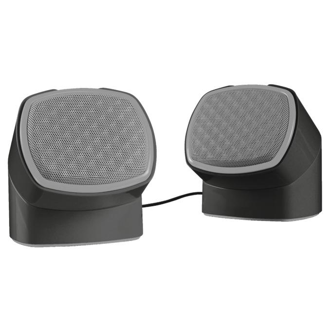 Тонколони TRUST Twizt Rotating, 2.0, 5 W, USB, черни image