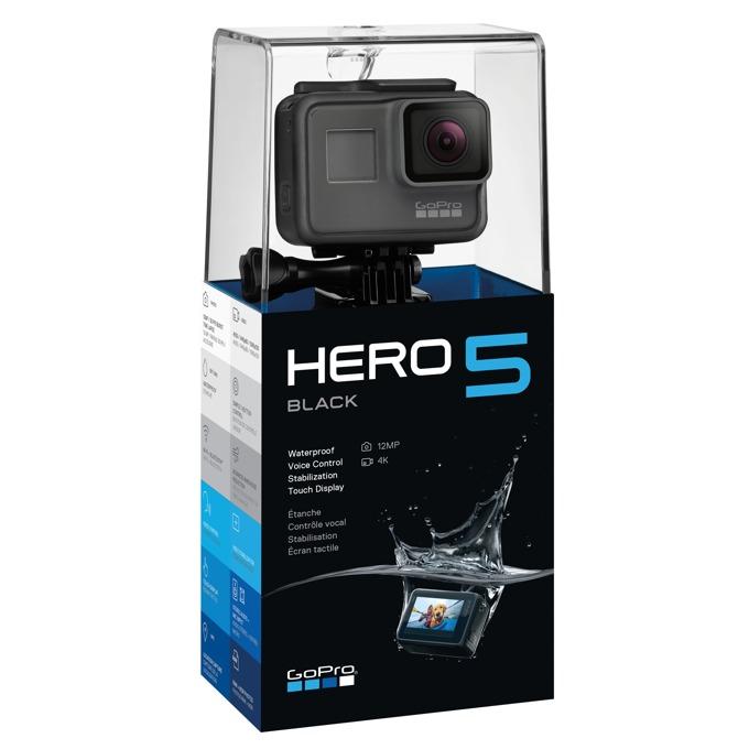 "Екшън камера GoPro HERO5 Black, 4K (30fps), 2"" (5.1 cm) сензорен дисплей, microSD слот, USB (Type-С), micro HDMI, Wi-Fi, Bluetooth, 1220mAh lithium-ion батерия image"