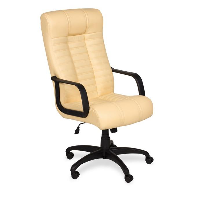 Директорски стол Carmen Atlantis, еко кожа, регулируем люлеещ механизъм, бежов image