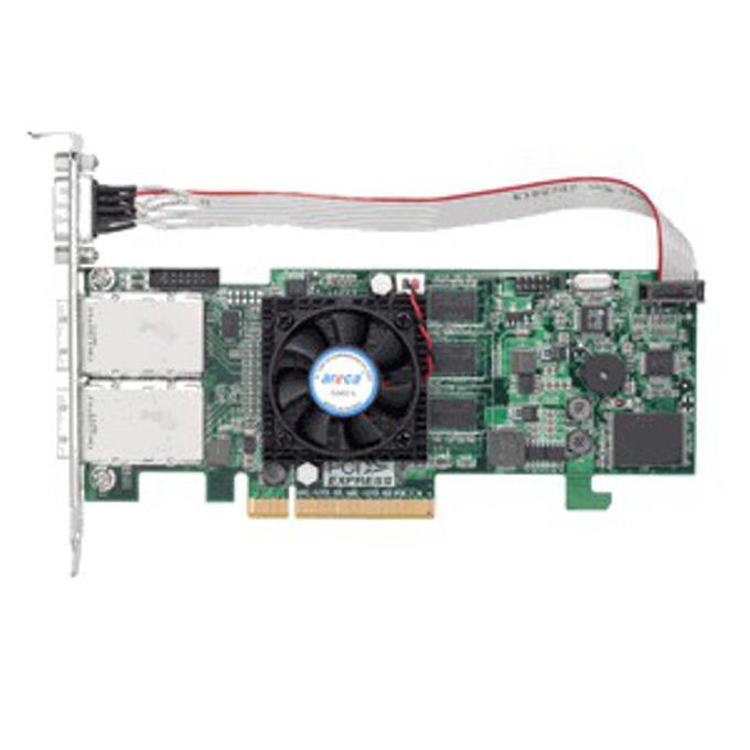 RAID контролер Areca ARC-1223-8x, PCIe 2.0 към 2x Mini-SAS SFF-8088, SATA/SAS 6Gb/s, 2 портов, 512MB RAM, поддържа RAID level 0, 1, 10(1E), 3, 5, 6, 30, 50, 60, Single Disk or JBOD image