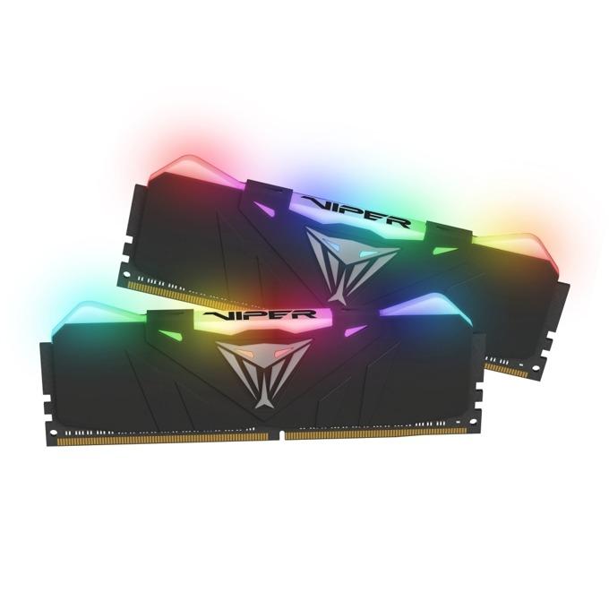Памет 16GB(2x8GB) DDR4, 3200MHz, Patriot Viper RGB Black PVR416G320C6K, RGB подсветка, 1.35V image