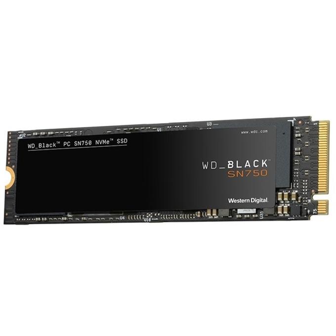 SSD 250GB WD Black SN750, NVMe, M.2 (2280), скорост на четене 3100MB/s, скорост на запис 1600MB/s image