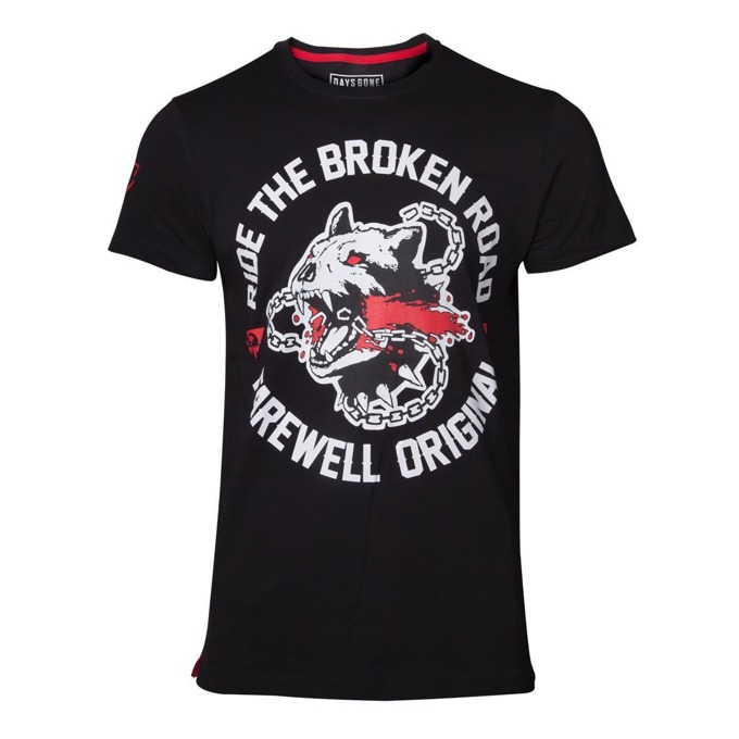 Тениска Bioworld Days Gone Broken Road, размер S, черна image