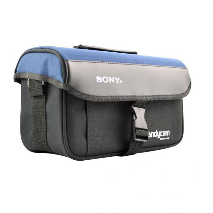 Чанта за камера SONY, PVC, чернo-синя, голяма image