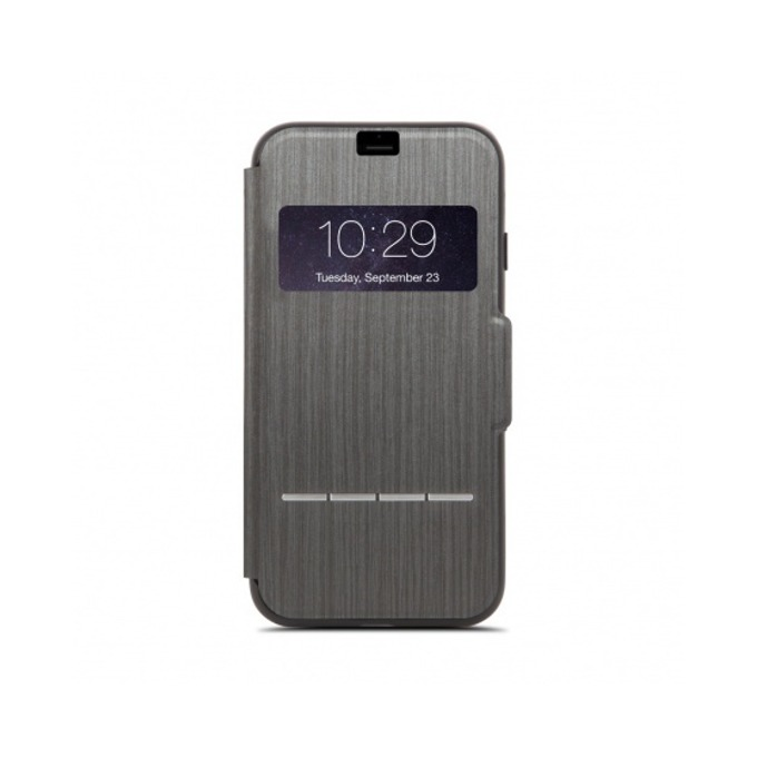 Калъф Apple iPhone 7/8 Plus, отваряем с прозорче, термополиуретан, Moshi SenseCover 99MO072009, черен image