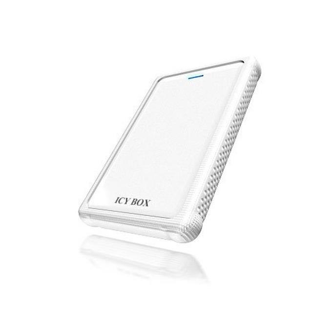 """Кутия 2.5"""" (6.35 cm), RaidSonic ICY BOX IB-223U3-Wh, USB3.0, бяла image"""