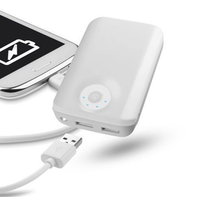 Външна батерия/power bank/ Cellular Line Free Power Dual Ultra, 6600 mAh, бяла image