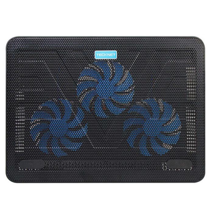 Охлаждаща поставка за лаптоп TeckNet N8 за Mac и преносими компютри, ергономична, 3 големи вентилаторa, черна image
