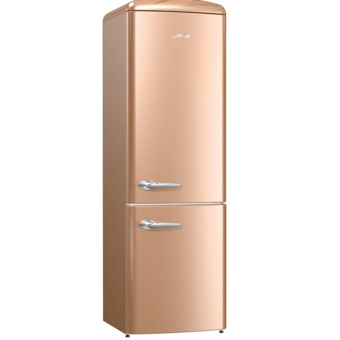 Хладилник с фризер Gorenje ORK 192 CO, клас A++, 326 л. общо, свободностоящ, 234 kWh/годишно, AdaptTech, CrispZone, XXL SpaceBox, FreshZone, светло кафяв image