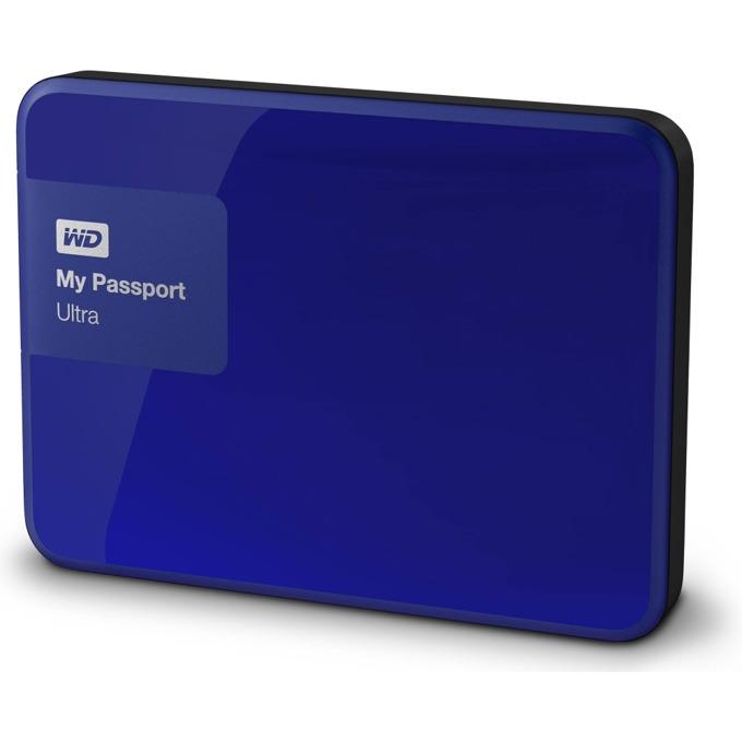"""Твърд диск 2TB WD MyPassport Ultra (син), външен, 2.5""""(6.35 cm), USB3.0 image"""