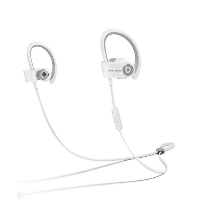 "Слушалки Beats by Dre PowerBeats 2 Wireless by Lebron James, бели, Bluetooth, тип ""тапи"", микрофон, водо-устойчиви, оптимизирани за iPhone/iPod/iPad image"