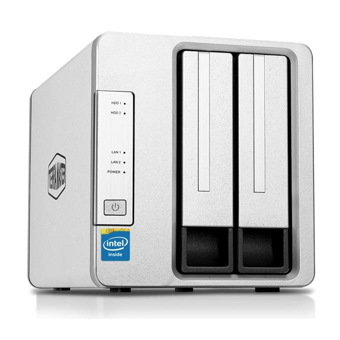 Мрежови диск (NAS) TerraMaster F2-420 (F2-420/2X6TB), четириядрен Intel Celeron J1900 2.00GHz/2.42GHz, 4 GB RAM, 2x 6TB Seagate NAS HDD, 2x RJ-45, USB 3.0, USB 2.0, Tower image