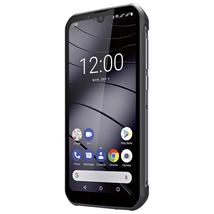 "Смартфон Gigaset GX290 (сив), поддържа 2 sim карти, 6.1"" (15.49 cm) IPS HD+ дисплей, осемядрен MediaTek Helio P23 MT6763 2.0 GHz, 3GB RAM, 32GB Flash памет (+ microSD слот), 13+2 & 8 MPix камера, Android 9.0, 279g image"