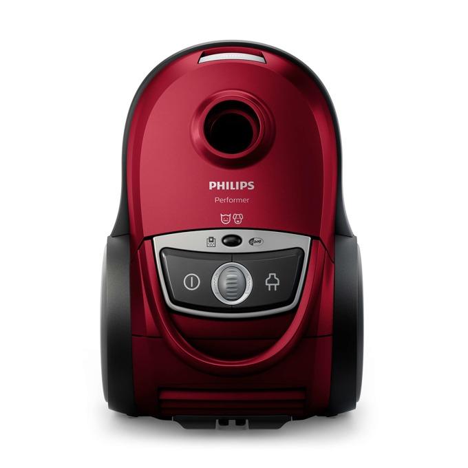 Прахосмукачка Philips Performer Cat & Dog FC8681/09, с торба, 650 W, 4 л. капацитет на торбата, енергиен клас A+, Накрайник с мини турбочетка, червена image