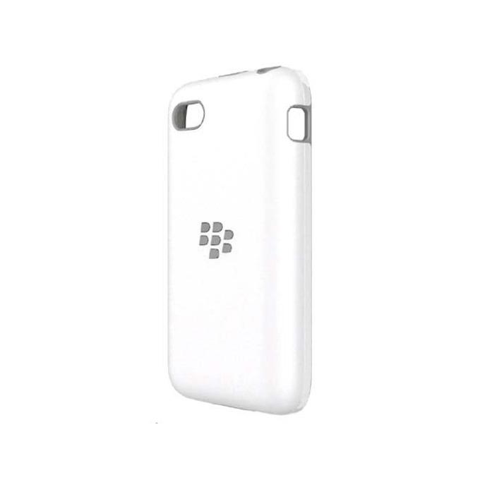 Калъф за Blackberry Q5, страничен протектор с гръб, поликарбонатов, Blackberry Premium Shell, бял image