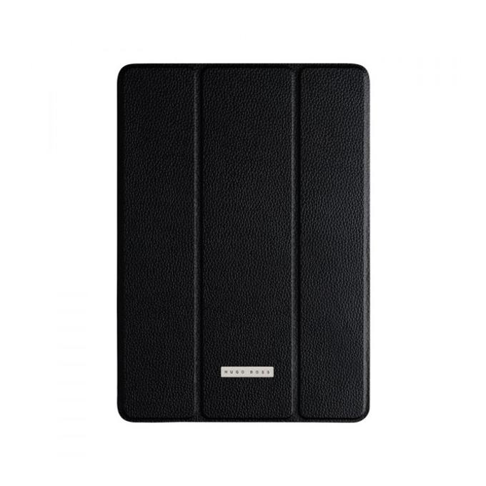 Калъф с поставка HUGO BOSS Aero Slimline, черен, кожен (естествена кожа), луксозен, за iPad Air image