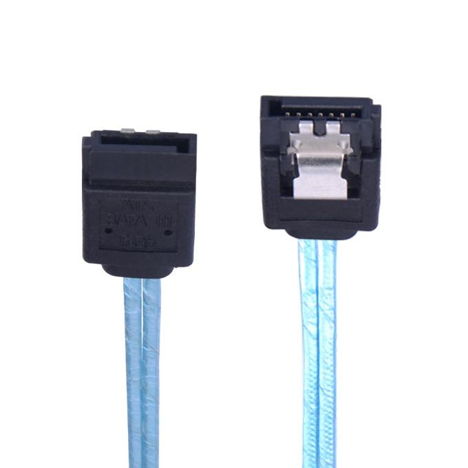 Кабел Orico CPD-7P6G-BA60, 6.0 Gbit/s (SATA-III), ъглов конектор, син, 0.6m image