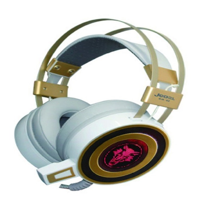 Слушалки JEDEL GH02, микрофон, USB, бял image