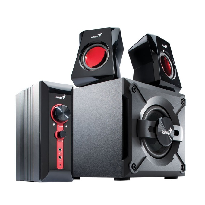 Тонколони Genius SW-G GX 2.1 1250, 2.1, RMS 38W (1x20W + 2x9W), 3.5mm jack, черни  image