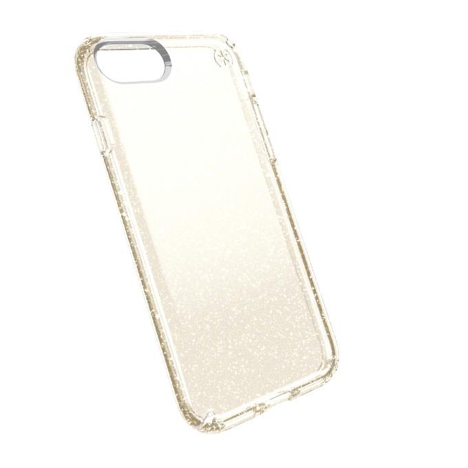 Страничен протектор с гръб Speck за iPhone 7, прозрачен с бляскави частици image