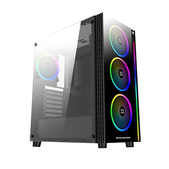 Кутия Xigmatek Poseidon (EN42272), ATX/Micro ATX/Mini-ITX, 2x USB 3.0, прозорец, черна, без захранване image