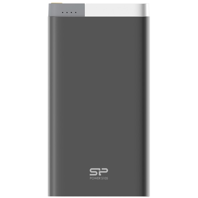 Външна батерия/power bank/ Silicon Power Petroleum S105, 10000mAh, черна, Ultra-slim, metal case image
