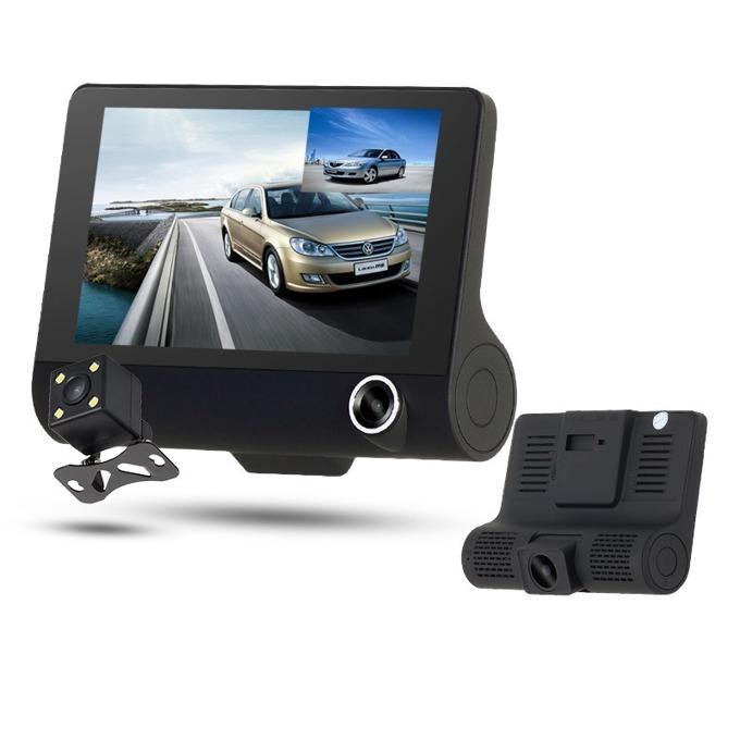 "Видеорегистратор Q-see D123, камера за автомобил, HD 1280х720, 4.0"" (10.16) IPS HD дисплей, TF слот, сензор за движение image"